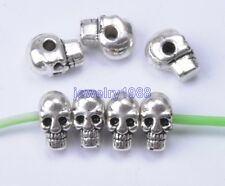 20pcs  Tibetan silver Charm Skull Spacer Beads 9x7mm  F730