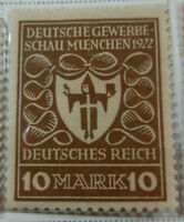 Germany 1922-23 Stamp 10 Mark MNH Stamp Rare Antique Excellent StampBook1-134