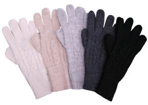 Alpaca Gloves 100% Premium Luxury Super Warm Plait Gloves, Womens, Mens, Unisex