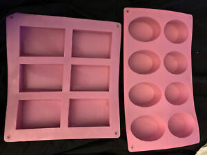 Silicone Rectangle Soap (6) Mould & Oval (8) Mould Homemade DYI Cake Making Mold