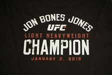 UFC Jon Bones Jones Long Sleeve T Shirt UFC 182 Champion Mens Medium Black