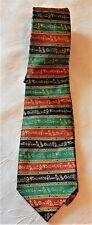 Egyptian Hieroglyphics NECKTIE Red Blue Green Polyester neck tie Taylor & Butler