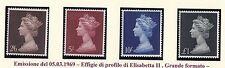Gran Bretagna/Great Britain  1969 Effigie profilo Elisabetta II grande formato