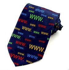 WWW Mens Necktie Computer Neck Tie World Wide Web Tech Internet Geek Gift New