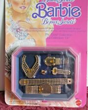 """Jewel Secrets Barbie """"The Gold Collection"""" jewelry, NRFB, 1986"""