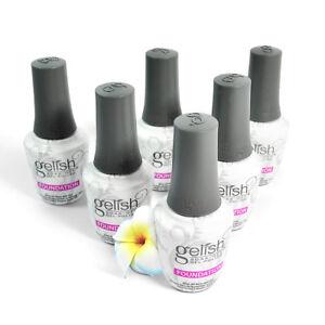 6 Bottles Nail Harmony Gelish Foundation Base Coat UV Gel Polish 0.5floz