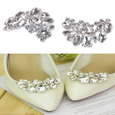 Shiny Bridal Wedding Shoes Clips Crystal Rhinestone Decor  Accessories  LE