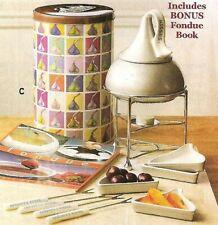 Hersheys Kiss Fondue Set Tea Light Candle Holder Forks Recipe Book Plates New