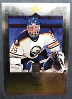 1996 Donruss Elite card # 30 Dominik Hasek Uncut-Diecut Parallel Buffalo Sabres