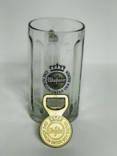Warsteiner Beer Glass And Bottle Opener