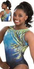 NWT Tropic Thunder Simone Biles GK ™ gymnastics leotard Sequins Scrunchie CS