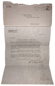 SIGNED, ISRAEL REGARDIE LETTER, OCCULT AUTHOR, 1984, ALEISTER CROWLEY RELATED