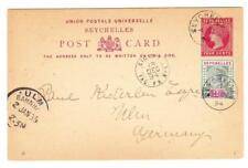 Seychelles Postal Card-HG:1-uprated SG#9-SEYCHELLES 4/DE/94-to GERMANY-via