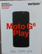 "Verizon Moto G6 Play Smartphone ~ Sealed Deep Indigo 5.7"" Display 13Mp/5Mp Camer"