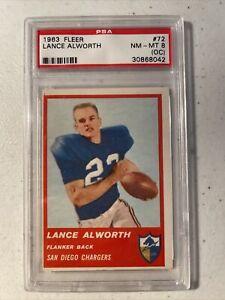 1963 FLEER LANCE ALWORTH 72 PSA NM-MT 8 (OC) ROOKIE HOF RC