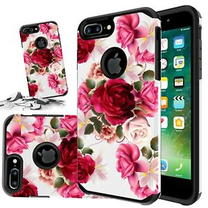 For Iphone 6 / 6s / 7 / 8 Plus SE 2020 Red Rose Floral Cute Girls Case