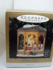 1995, COMING TO SEE SANTA,  HALLMARK MAGIC KEEPSAKE ORNAMENT