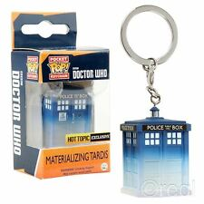 New Doctor Who Materialising TARDIS Pocket Pop Figure Keyring Keychain Official