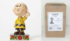"Jim Shore PEANUTS ""Good Man Charlie Brown"" Figurine 4044676 NIB"