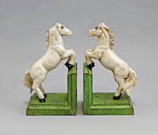 9937619 Eisenguss Figur Buchstützen Pferd bunt