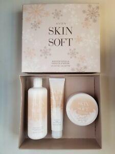 AVON Skin so Soft Winter Vanilla Collection Body Wash, Body Butter, Hand Cream