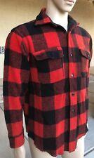 Vintage 50s Melton Wintermaster 100% Wool Plaid Tartan Shirt Size Large USA Made