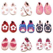 Chaussures roses unisexe en cuir pour bébé