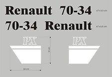 Kit stickers pour tracteur Renault 70-34 PX