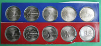 2007 P D Statehood Quarters 10 Satin Coins Mint Set BU Statehood 25c State Coin