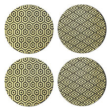 Geome Deco Placemats Black & Gold Set of 4 Kitchen Dining Table Protectors