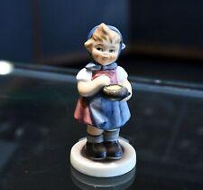 "Goebel Hummel #629 From me to you Tmk 7 Germany 3 1/2"" Girl Bowl Figurine"