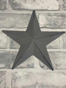 Grey Metal Barn Star Wall Hanging Decoration