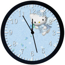 Hello Kitty Black Frame Wall Clock Nice For Decor or Gifts Z110