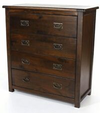 Boston 4 Drawer Dark Wood Chest Of Drawers Antique Range Bedroom Furniture
