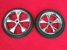 """SINISTER 2000-2007 HARLEY TOURING 21"""" / 18"""" WHEELS DUAL DISC RIMS STREET GLIDE"""