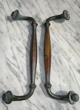 """Pair of Antique Bronze/Brass Pull Door Handles 12.75"""""""