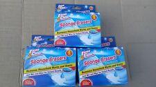 Sponge erasers X 12. Magic sponges 3 packs of 4 Household cleaning Removes marks