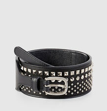 NWT GUCCI STUDDED LEATHER WAIST BELT SZ 34 85 MADE IN ITALY