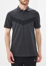 NIKE Men's Chevron Polo NSW Golf Shirt Black & Dark Grey Large NWT NEW $45