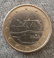 Pièce de monnaie 1 Euro FINLANDE 2002 fauté erreur de frappe  20⁰2
