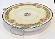 Vintage Lewis and Conger New York Porcelain China Warming Plate Hot Water Fill