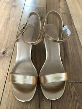Women 's Simply Be Wedge Sandals Rose Gold Size EU 42 UK 9