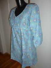 SEASALT blue patterned tunic top - NEW Size 14 (142)