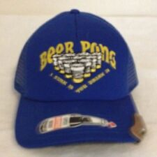 "BEER PONG "" I SINK IT YOU DRINK IT "" Unique Looking BLUE Cap NWT"