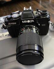 Minolta X-700 35mm Film Camera +  Lenses + Flash + Manual + Bag