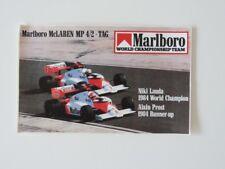 Vintage Autocollant sticker Marlboro MC écrites Niki Lauda Alain Prost 1984