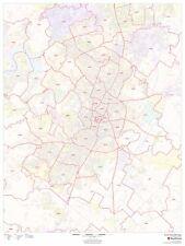 Austin, Texas Zipcode Laminated Wall Map (MSH)
