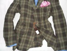 NWT GEMELLI Men's Multi-Color 100% Wool Napolitano Styled Suit Blazer- 44R VENTS
