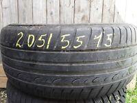 1× Sommerreifen 205/55 R15 88V Dunlop SP Sport Fastresponse DOT 1510 4-5mm