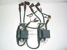 2 x ROTAX CDI IGNITION MODULE COMPLETE WITH MOUNTING PLATE AND SPARK PLUG WIRES